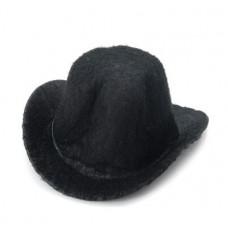Шляпа фетровая, черная, 5,1 см. (12767)