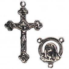 Подвески Antique Silver Madonna Head, 2шт (1964-72)