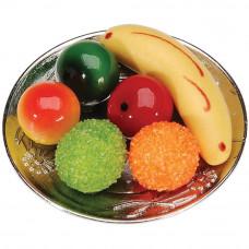 Миниатюрные фрукты на тарелке (2306-22)