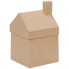 Заготовка-коробка из папье маше, Домик (2863-05)