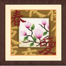 Набор для вышивания крестиком Золотое руно Весенний расцвет (МГ-018)