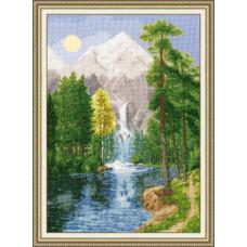 Набор для вышивания крестиком Золотое руно Водопад в горах (ВМ-027)