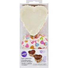 Одноразовые формы для выпечки Сердца, 12 шт.(W9906)