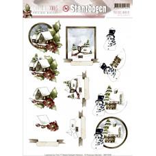 Картинки 3D Зимний пейзаж (SB10048)
