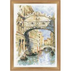 Набор для вышивания крестом Риолис Венеция. Мост вздохов (1552)