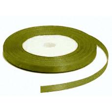 Атласная лента, тёмно-зелёная, 6мм