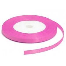 Атласная лента, ярко-розовая, 6мм
