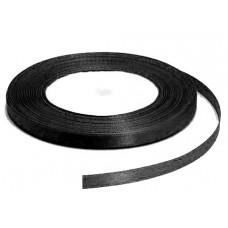Атласная лента, чёрная, 6мм