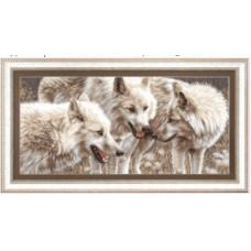 Набор для вышивания крестиком Чарівна мить Белые волки (М-126)