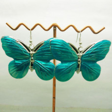 Серьги Бирюзовые бабочки