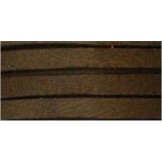 Шнур кожаный плоский Deerskin Lace, шоколадный (DOS31602 0207)