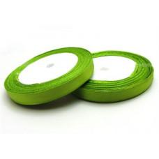 Сатиновая лента, весенняя зелень, 1см