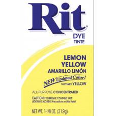 Краска для ткани Rit Dye Powder, лимонно-желтый (3 1)