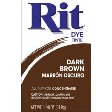 Краска для ткани Rit Dye Powder, темно-коричневая (3 25)
