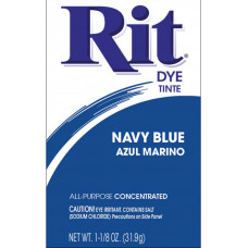 Краска для ткани Rit Dye Powder, темно-синяя (3 30)