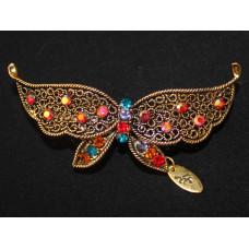 Заколка Медовая бабочка
