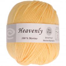 Пряжа чистошерстяная, 100% меринос, 50г, 88 метров, Lemon Yellow (Q52-50 104)