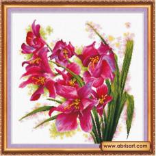 Лиловые орхидеи (AH-003)