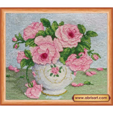 Розовые цветы (AH-014)