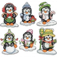 Пингвины на льду, 6 шт.(DW2286)