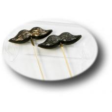 Пластиковая форма для шоколада Усы на палочке (039)
