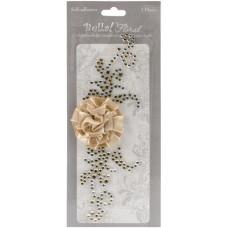 Наклейка с цветком, Золотая (JA6516)