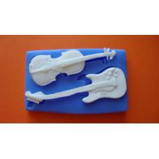 Силиконовый молд Гитара со скрипкой (619)