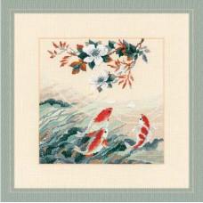 Набор для вышивания крестом Риолис Танцующие рыбки (1574)