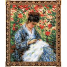 Набор для вышивания крестом Риолис Мадам Моне за вышивкой (100/051)