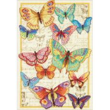 Набор для вышивания крестом Dimensions Прекрасные бабочки (70-35338)