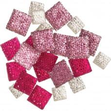 Камни квадратные Accessories Glitter Gemstones, 24 шт.(50716411)
