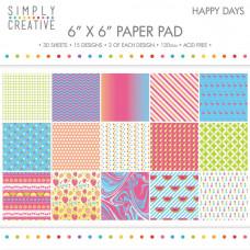 Набор бумаги Happy Days (SCPAD002)