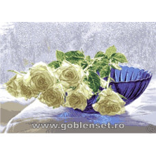 Набор для вышивания GOBLENSET Белые розы (G1008)
