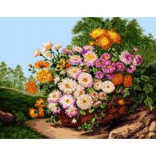 Корзина с цветами (G858)*