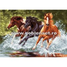 Набор для вышивки GOBLENSET Лошади в галопе (G891)