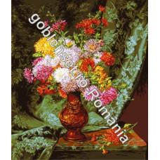 Хризантемы в японской вазе (G859)*