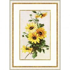Набор для вышивания крестиком Золотое руно Солнечные цветы (БР-014)