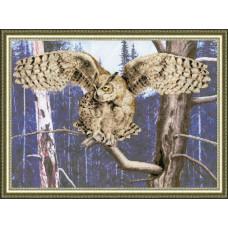 Набор для вышивания крестиком Золотое руно Сова (КН-010)