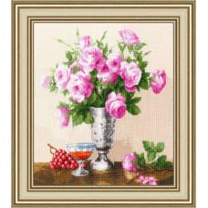 Набор для вышивания крестиком Золотое руно Королевские розы (ЛЦ-060)