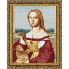 Набор для вышивания крестиком Золотое руно Дама с единорогом (МК-027)