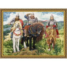 Набор для вышивания крестиком Золотое руно Три богатыря (МК-035)