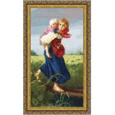Набор для вышивания крестиком Золотое руно Дети, бегущие от грозы (МК-033)