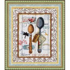 Набор для вышивания бисером Золотое руно Стильная кухня Ложки (РТ-094)