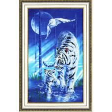 Набор для вышивания бисером Золотое руно Белый тигр (РТ-109)