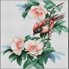 Птичка в цветах (B299)