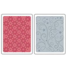 Папки для тиснения Flowers/Stars & Swirls (656458)