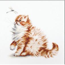 Кошка со стрекозой (B2270)