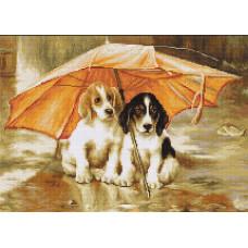 Двое под зонтом (B550)