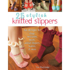 Книга 25 Stylish Knitted Slippers (STB-14075)