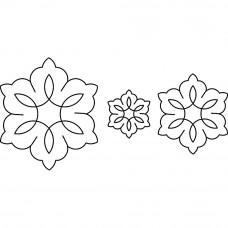 Трафарет для простёгивания Flowers (CS/363864)